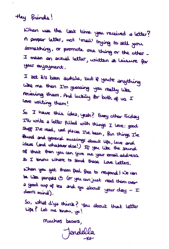 Love Letters from Jendella